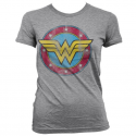 T-shirt Wonder Woman Distressed Logo superhero maglia Donna ufficiale by Hybris