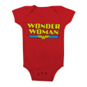 Baby Body bimba Wonder Woman Logo Infant snapsuit ufficiale DC Comics