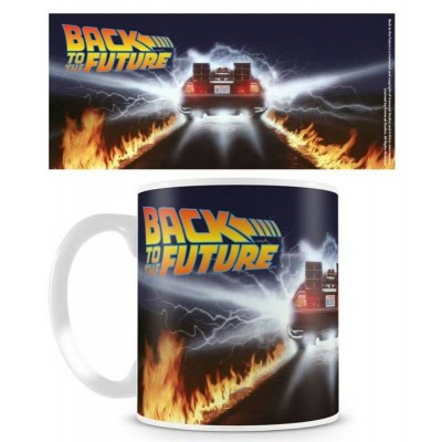 Tazza in ceramica Back To The Future - Delorean Fire Tracks Mug