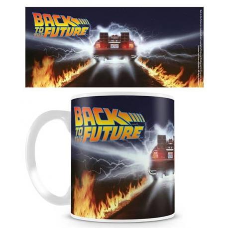 Tazza in ceramica Back To The Future - Delorean Fire Tracks Mug