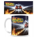 Back To The Future - Delorean Fire Tracks Mug 10 cm