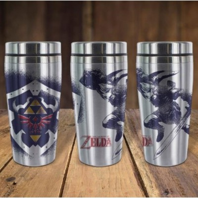 Tazza da viaggio thermos Legend of Zelda Link travel mug 18 cm Paladone