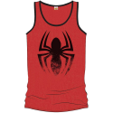 Spider-Man red tank top black distressed logo Uomo ufficiale Marvel