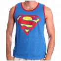 Canottiera Superman distressed shield tank top Uomo ufficiale DC Comics