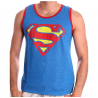 Canottiera Superman distressed shield tank top