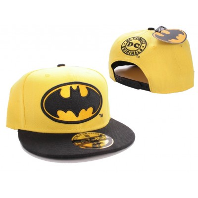 Cappello Batman classic logo snapback Cap Hat Yellow/Black ufficiale DC Comics