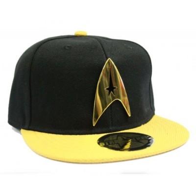 Cappello Star Trek Command Logo snapback Cap Hat Black/Yellow