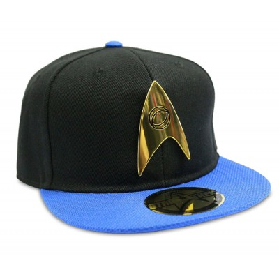 Cappello Star Trek Science Logo snapback Cap Hat Black/Blue
