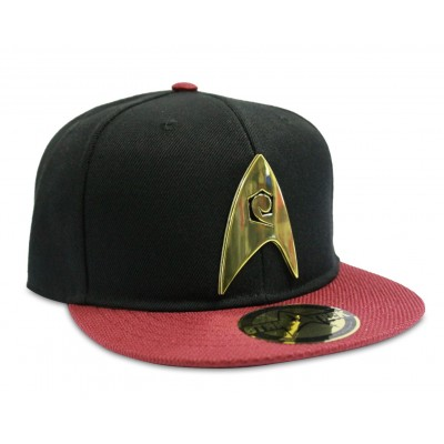 Cappello Star Trek Engineering Logo snapback Cap Hat Black/Red