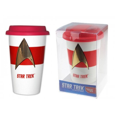 Tazza da viaggio Star Trek Insignia Travel Mug 15 cm Pyramid