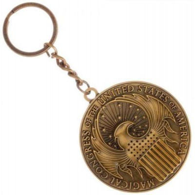 Fantastic Beasts Macusa Crest gold metal Keychain