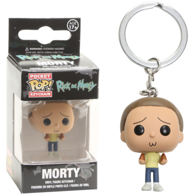 Portachiavi Rick And Morty Pocket Pop! Morty Smith Vinyl KeyChain Funko