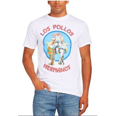 T-shirt Breaking Bad Los Pollos Hermanos white official Man by CID