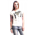 T-shirt Batman logo blouse fake tie woman DC Comics