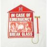 T-shirt In case of emergency break the glass Uomo