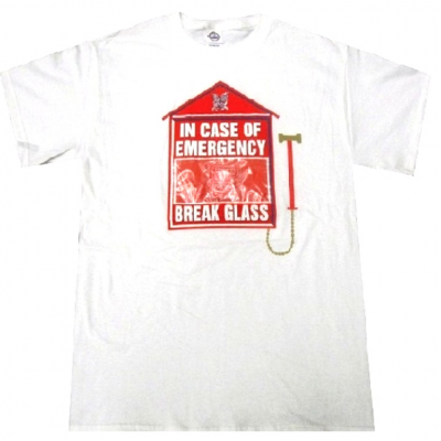 T-shirt In case of emergency break the glass condom Uomo