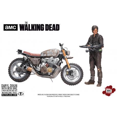 Action Figure Daryl Dixon with Custom bike deluxe The Walking Dead McFarlane