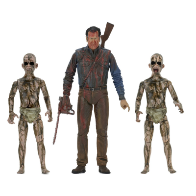 Action Figure Ash vs Evil Dead Bloody Ash vs Demon Spawn 3-Pack Neca