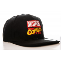 Cappello Marvel Comics retro embroidered logo Snapback Cap Hat Nero ufficiale