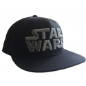 Cappello Star Wars Black/Grey Logo snapback Cap Hat LucasFilm