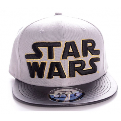 Cappello Star Wars Grey / Black 3d Logo snapback Cap