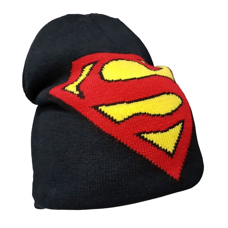 Superman Logo Junior Beanie Winter Hat DC Comics 0c27c753f2f