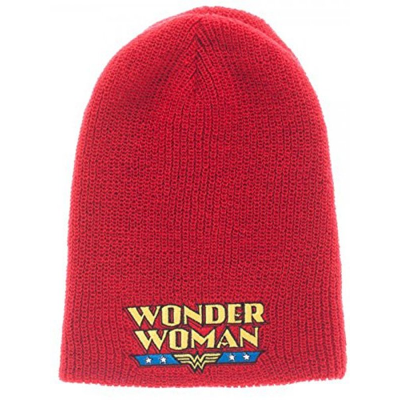 Wonder Woman Red/Blue Reversible Beanie