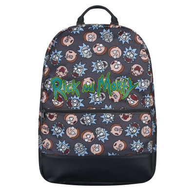 Zaino Rick and Morty Logo Big Faces Backpack Bioworld
