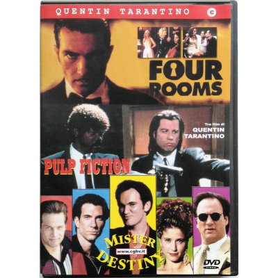 Dvd Quentin Tarantino box Four Rooms - Pulp fiction - Mister Destiny