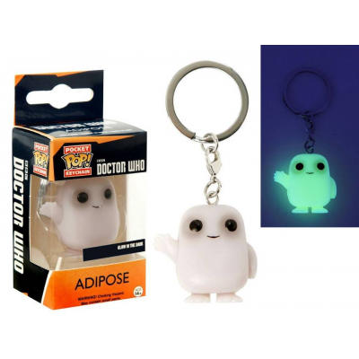 Portachiavi Doctor Who Adipose Glow in the Dark Pocket Pop! funko