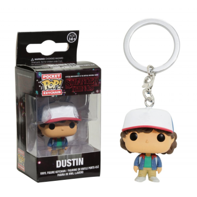 Portachiavi Stranger Things - Dustin Pocket Pop! Vinyl KeyChain Funko