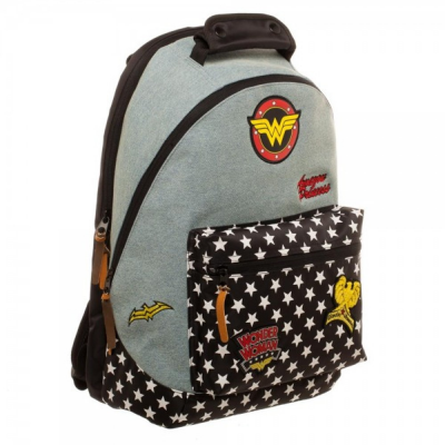 Zaino Wonder Woman Backpack Patches Denim Bioworld