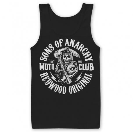 Canottiera Sons of Anarchy SOA Redwood original Moto Club Tank Top Uomo Hybris