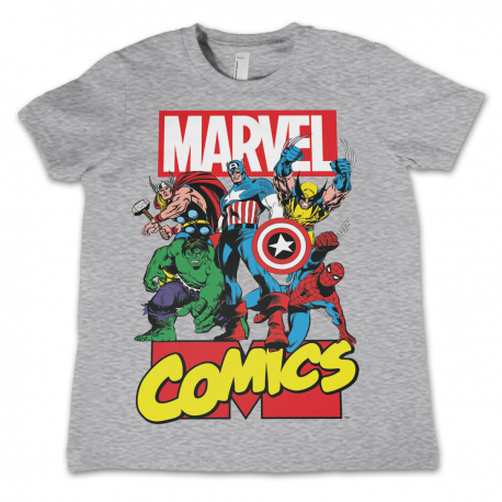 T-shirt Marvel Comics Heroes Kids supereroi maglia Bambino by Hybris