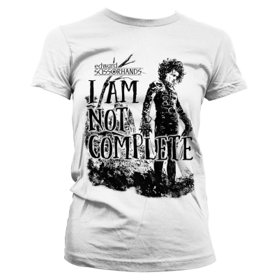 T-shirt Edward Scissorhands - I Am Not Complete