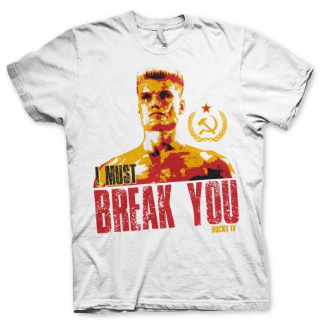 T-Shirt Rocky IV Ivan Drago - I Must Break You