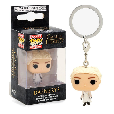 Portachiavi Daenerys White Coat Game of Thrones Pocket Pop!