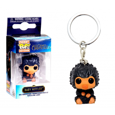 Fantastic Beasts Baby Niffler Grey Snaso Pocket Pop! KeyChain Funko
