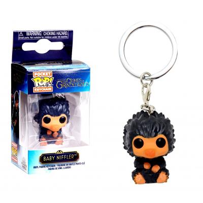 Portachiavi Fantastic Beasts Baby Niffler Grey Snaso Pocket Pop! KeyChain Funko