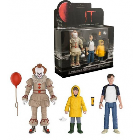 Action Figure 3-Pack Stephen King's It Movie 2017 Pennywise Bill Georgie Funko