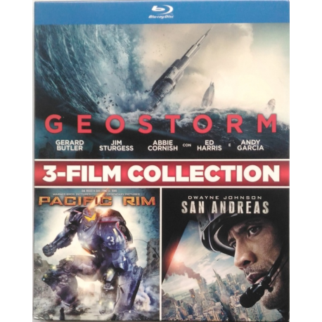 Blu-ray 3-Film collection Geostorm + Pacific Rim + San Andreas
