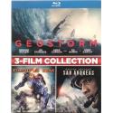Blu-ray 3-Film collection Geostorm + Pacific Rim + San Andreas Usato