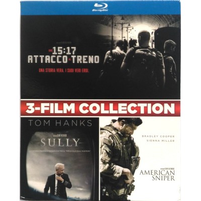 Blu-ray 3-Film collection Ore 15:17 attacco al treno + Sully + American Sniper