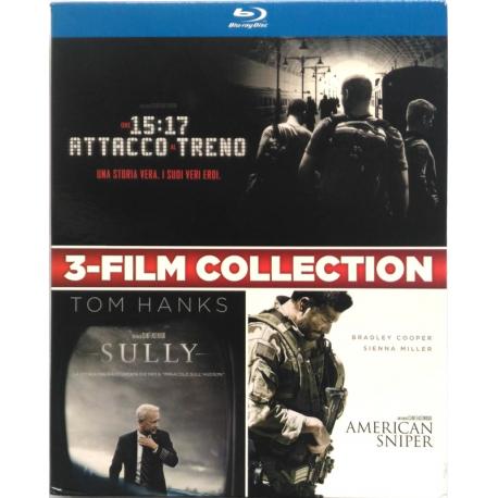 Blu-ray 3-Film collection Ore 15:17 attacco al treno + Sully + American Sniper