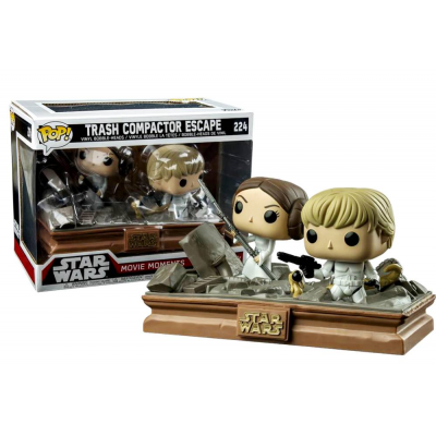 Star Wars Trash Compactor Escape Leia & Luke Skywalker Pop! Funko