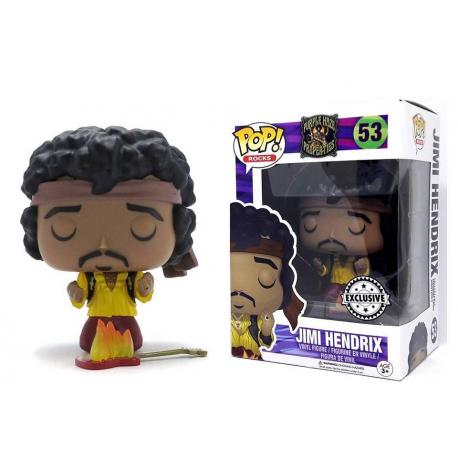 Jimi Hendrix Monterey Guitar on Fire Exclusive Pop! Funko