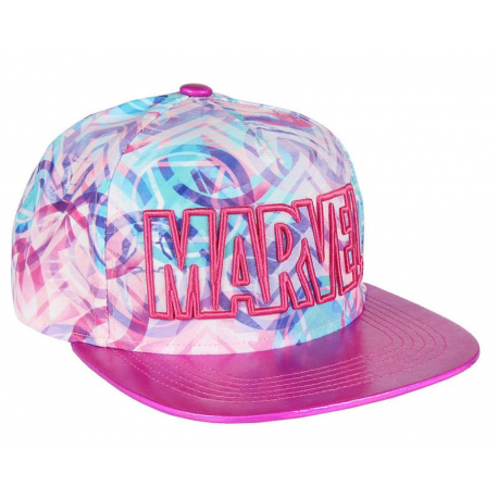 Cappello Marvel embroidered pink logo Premium Cap