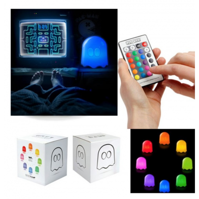 Lampada Pac-Man Ghost multicolor lamp with remote control 20 cm Kidult