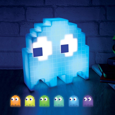 Lampada Pac-Man Ghost multicolor lamp reacts to music Paladone