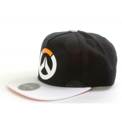 Cappello Overwatch rubber Logo black/white Snapback Cap